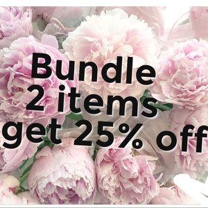 Bundle 2 items + get 25% off !!